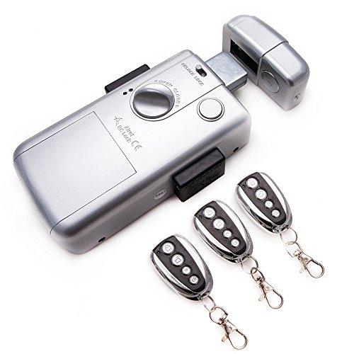 KENROD Unsichtbare Intelligente Schließung Tür Schloss mit 3 Kontroller Schloss Outdoor Schloss Elektrisch Sicherheitsschlösser Sicherheitsschlösser Für Haustüren Farbe Silber