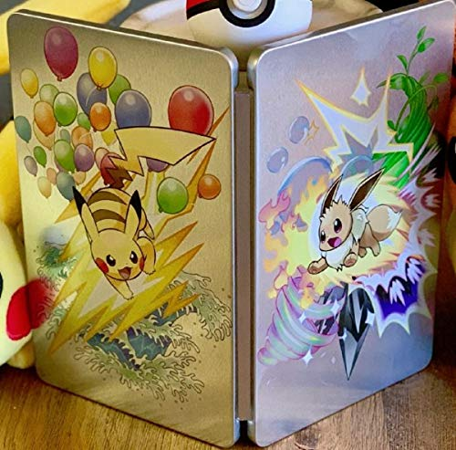 Pokemon Let's Go Eevee Pikachu Nintendo Switch *EMPTY CASE* Steelbook [NO Game]