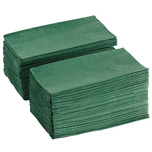 Perfectware - PW-2 Ply Dinner Napkin Hunter Green- 125 2 Ply Hunter Green Dinner Napkins - Pack of 125ct