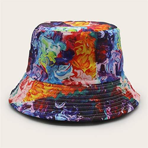 H/A Gordo y Femenino Moda Sombrero Sombrero Sombrero Gorra, Gorra, Sol Salto, Peces, Sombrero, Colorido, Colorido, Colorido, Mezcla, hi, jaja, Pescador MENGN (Color : Colorful, Size : One Size)