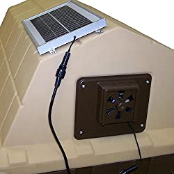 Billionaire asia Solar Powered Dog House Exhaust Fan Whisper-Quiet Vent Easy to Install