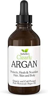 Clearly ARGAN, Best 100% Pure Organic Moroccan Argan Oil - Anti Ageing Cold Pressed Moisturiser for Hair, Skin, Body, Scal...