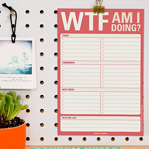 Knock Knock WTF Am I Doing? Pad, To Do List Note Pad, 6 x 9-inches Photo #4