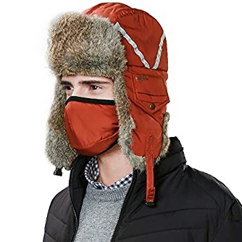 Rabbit fur trapper russian hat image