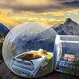 バブルハウステント 透明インフレータブルテント 膨張式屋外テント アウトドアキャンプテント 裏庭キャンプ 空気注入式バブルテントハウス 日光浴/防風/自動防雨 携帯式 直径3M 電動ポンプ付き