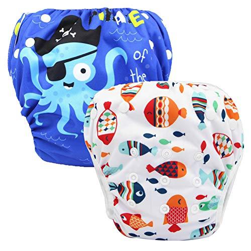Storeofbaby Pañales de baño lavables para bebés Piscina de verano reutilizable Swimpant 0-3 años