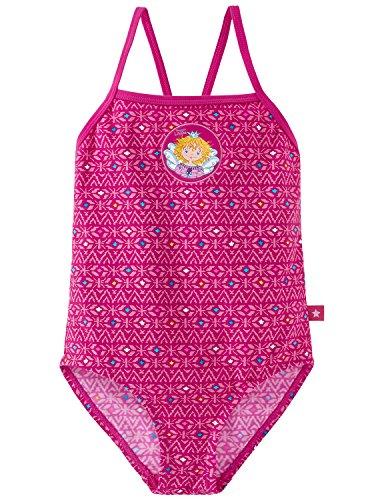 Schiesser Mädchen Aqua Prinzessin Lillifee Badeanzug Einteiler, Rot (Fuchsia 508), 104