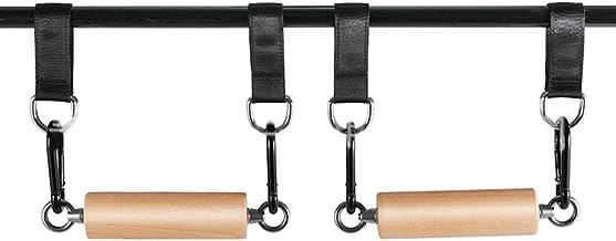XanSpoden 1 Paar Pull-up Trainer met Houten Klimmen Hold Grips, Strengthener Oefening Training Gereedschappen voor Thuis G...