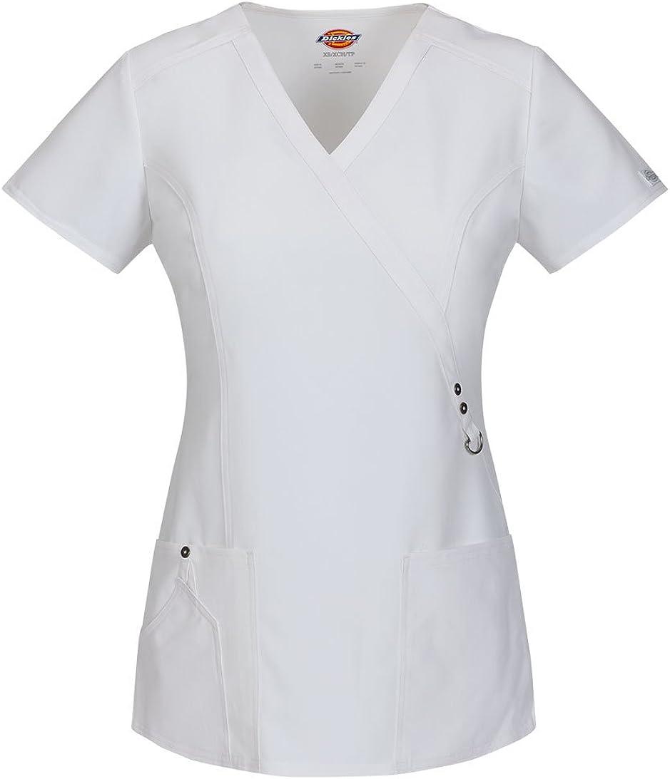Dickies Xtreme Stretch 85956 Ensemble haut à col montant et pantalon à cordon 82011 pour femme Blanc