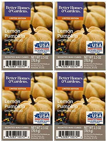 Better Homes and Gardens Lemon Pumpkin Shortbread Scented Wax Cubes - 4-Pack