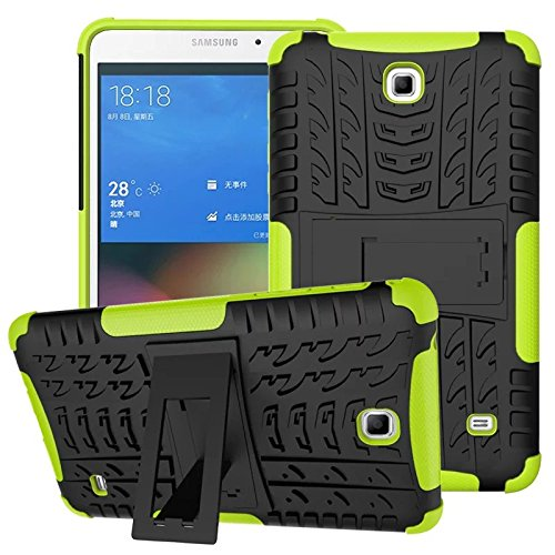 XITODA Hülle für Samsung Galaxy Tab 4 7.0, Hybrid TPU Silikon & Schwer PC Cover Schutzhülle für Samsung Galaxy Tab 4 7.0 SM-T230/T231/T235 Tablet Case Hülle mit Kickstand/Stand - Grün