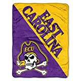 The Northwest Company East Carolina Pirates 'Halftone' Micro Raschel Throw Blanket, 46' x 60' , Purple
