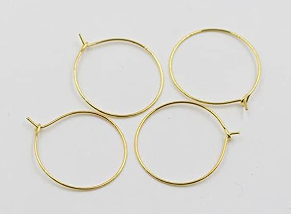 Migaven Wine Cup Charm Rings Glass Charm Ring Earring Hoops 30x25mm 100pcs