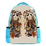Photo du Nouvel an Chinois Fuwa Sac à Dos pour Enfant léger Enfant Sac d'école pour Enfants Sac à Dos de Livre décontracté Durable pour Fille et garçon 26.6x20x42cm