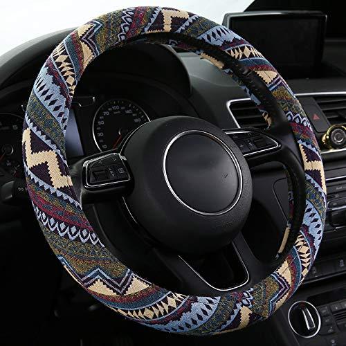 SHAKAR Bohemian Style Steering Wheel Covers-Boho Steering Cover,Universal Fit,15 inch (Bohemian)