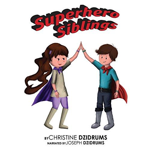 Superhero Siblings audiobook cover art