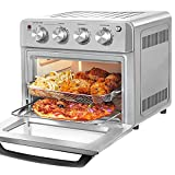 DAWAD Air Fryer Toaster Oven Combo, 7-in-1 Convection Airfryer Toaster Ovens Countertop with 33 Original Recipes, Bake, Broil, Toast, Reheat, Fry Oil-Free, 19 QT, Stainless Steel