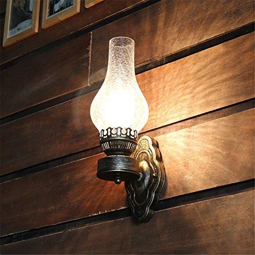 YU-K Eenvoudige vintage woonkamer eetkamer wandlamp oude olie wandlamp vintage bar wandlamp vintage café bedkant wandlamp (120 * 420 mm)