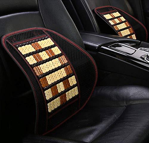 JNMDLAKO Mesh Lumbar Support Cushion - Linderung von Ischias- und Steißbeinschmerzen im Rücken - für Car Home Office Chair (1 STÜCK, Bambus), C.