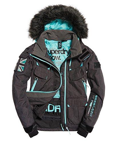 Superdry Damen Skijacke Ultimate Snow Service schwarz (200) L