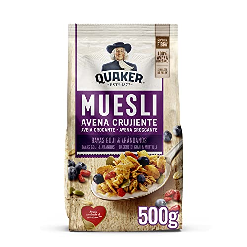 Quaker Muesli con Goji y Arándanos, 350g