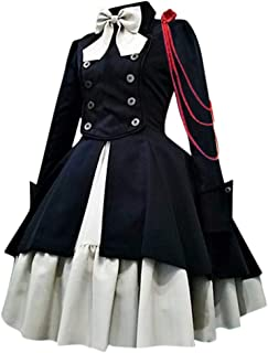Voicry Mode Frauen Vintage Gothic Court Square Kragen Patchwork Prinzessin Kleid