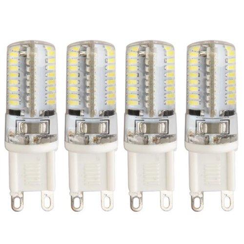 4 Bombillas Led de Luz Blanca - 3W de Potencia - Base G9 - Luz 3014 Smd - Color 6500K