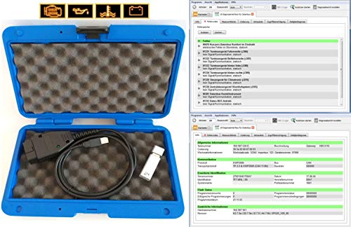 Diagnosegerät geeignet für alle V A G Modelle VW Audi Seat Skoda Tiefendiagnose Codieren Service Reset 1990 bis 2020