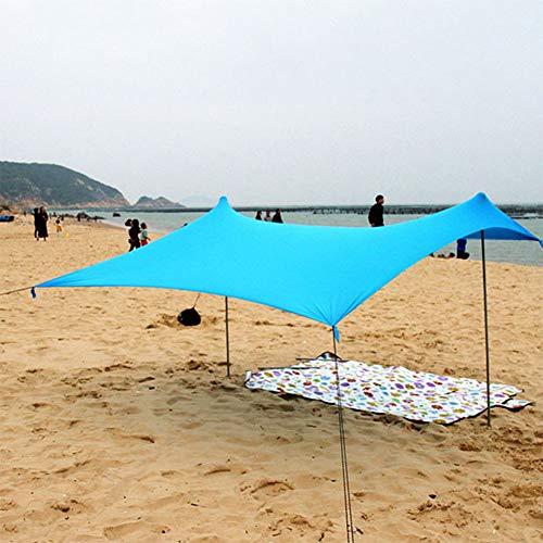 ZYQDRZ Simple Beach Tent, Shade And Cool, Large Sunscreen Tent, Portable Rainproof Camping Tarpaulin,Blue,210 * 210 * 160cm