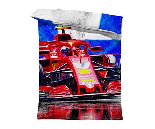 fotobar!style Bettbezug 135 x 200 cm 2018 noch in Ferrari-Diensten, fährt der Finne Kimi Räikkönen.ab 2019 für das Team Sauber.