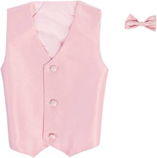 Vest and Clip On Bowtie set - Multiple Colors - Baby Infant Toddler Boys Tween Sizes