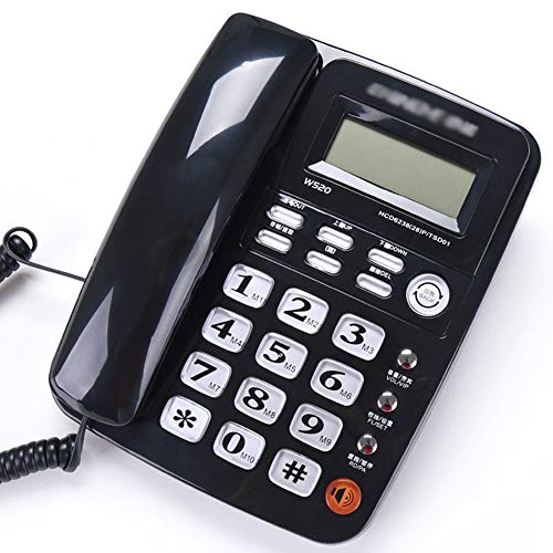 YHZMT Corded Telephone, Office Landline Fixed Telephone ,with Electric Display/Hands-Free/callback Inquiry Function, Big Button Phones for Seniors