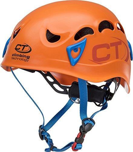 Climbing Technology Galaxy Helm Unisex Erwachsene, Unisex, 6X94801AE0CTSTD, Arancio/Azzurro, Regolabile da 50-61 cm