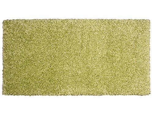 UNITRAMA - Alfombra Catay Verde - 57x110cm - Pelo semilargo 25mm
