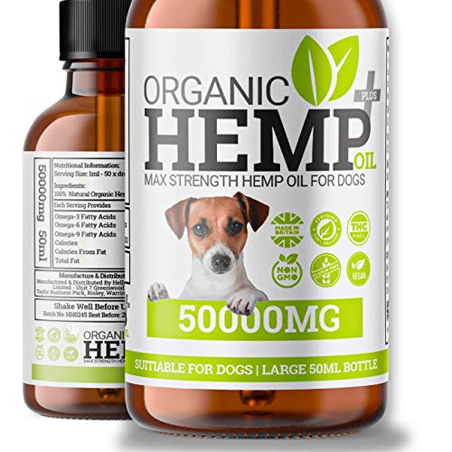 Dog Hemp Oil Drops | Calming Hip & Joint Natural Supplement For Dogs & Cats | Omega 3,6,9 | Made In UK