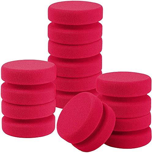 HLPIGF Paquete de 8 Aplicadores de Esponja de Pintura con Detalle de Esponja de Pintura Aplicador de Cera Redondo Aplicador de Brillo de NeumáTicos (Rojo)