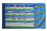 Fahne / Flagge Schafe im Wind + gratis Sticker, Flaggenfritze®