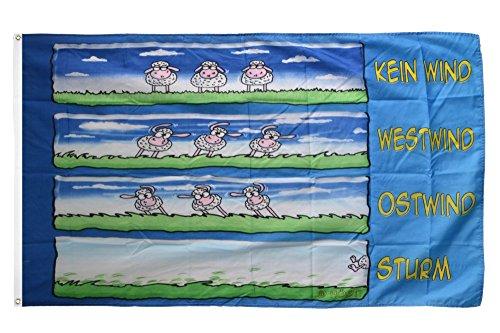 Flaggenfritze Fahne/Flagge Schafe im Wind + gratis Sticker
