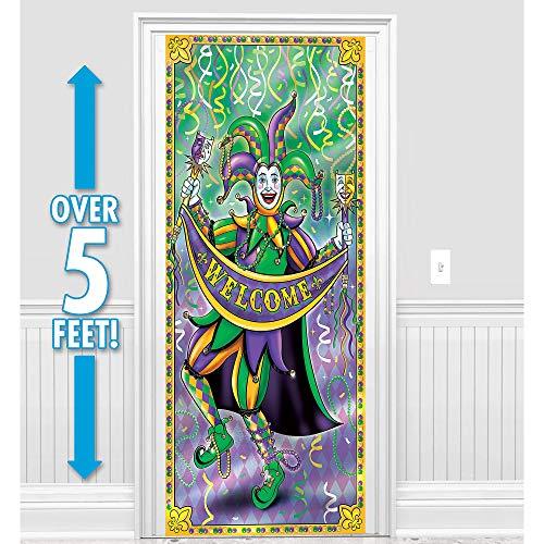 Amscan Mardi Gras Door Curtain, One Size, Multicolor