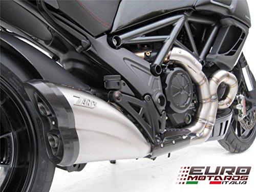 Ducati Diavel 2011-2015 Zard Impianto Scarico Inox Completo fondello Carbonio Omologato System Exhaust