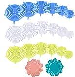 YOUYIKE® Tapas de Silicona elásticas, 18 Reutilizable tamaños de Diferentes...