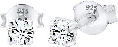 Elli Pendientes Damas Cristalles de Plata Ersterlina 925