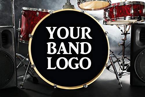 Aangepaste Bass Drum Decal, Bass Drum Sticker, Aangepaste Band Naam Decal, Aangepaste Sticker, Aangepaste Decals, Drum Decal, Band Logo, Band Logo Sticker