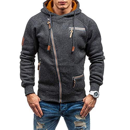 VANVENE - Sudadera con capucha para hombre