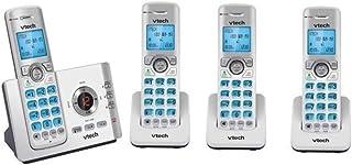 VTECH 17550 QUAD 4-HANDSET DECT 6.0 CORDLESS PHONE+ANSWER MACHINE NBN READY
