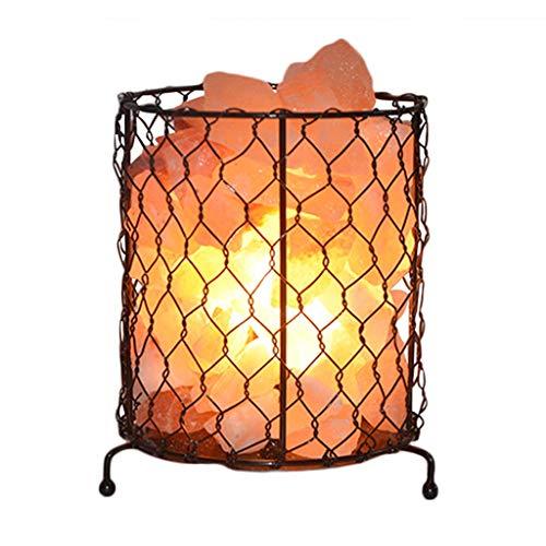 Luminaires & Eclairage/Luminaires intérieur/EC Lampe en Fer au sel Lampe de Nuit Lampe en Cristal de sel de l'Himalaya Lampe de Table Lampe de Nuit à LED Lampe de Chambre à Coucher créative
