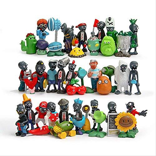 HOU&PR Pflanze gegen Zombie 1 Anime Figur Spielzeug 3-8cm , PVZ Modell Puppen Kinderspielzeug 40pcs
