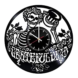 GoodIdea Art Grateful Dead Vinyl Record Wall Clock, Grateful Dead Handmade for Kitchen, Grateful Dead Unique Wall Poster