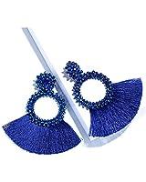 Krun Tassel Earrings for Women - Statement Handmade Dangle Fringe Earrings for Women, Idea Gift for Sister, Wife and Friends