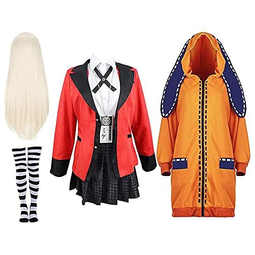 WPYY Kakegurui Anime Uniforme Escolar Cosplay Rock para juegos de rol, espectáculos o exposiciones de cómic, D, M